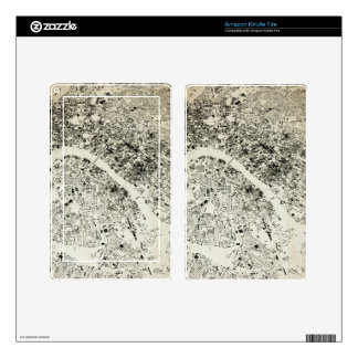 London Streets and Buildings Vintage Map Kindle Fire Skins