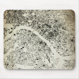 London Streets and Buildings Vintage Map Mouse Pad
