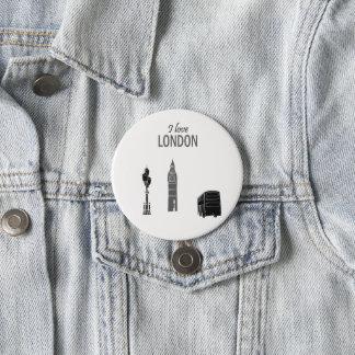 London Stylish Modern Simple Sketch Pop Art Cool Pinback Button