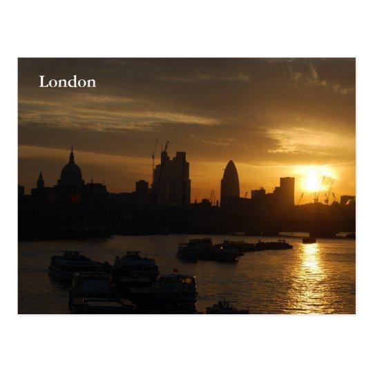 London Sunrise Postcard