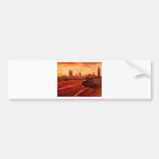 London Taxi Big Ben Sunset with Parliament Bumper Sticker