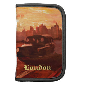 London Taxi Big Ben Sunset with Parliament Folio Planners