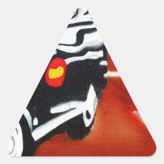 london taxi black cab design triangle sticker