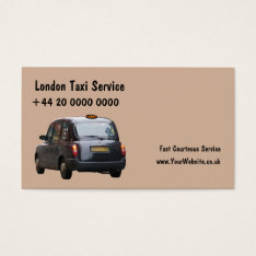 London Taxi Business Cards at Zazzle
