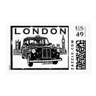 London Taxi Postage Stamps
