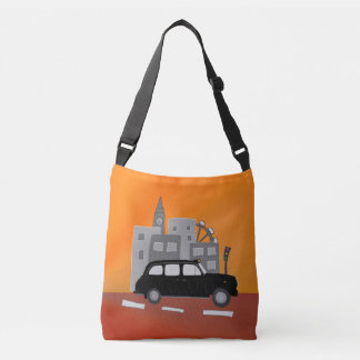 London Taxi Scene Tote Bag