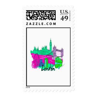 london teal city image png postage stamp