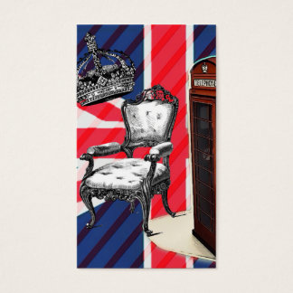 London telephone booth victorian crown union jack business card