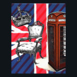 "London telephone booth victorian crown union jack letterhead<br><div class=""desc"">London telephone booth victorian crown union jack fashion accessories. Trendy london style home accessories and retro london party favors. United kingdom fashion accessories for london fashion look.</div>"