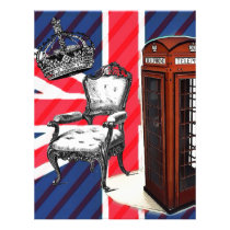 London telephone booth victorian crown union jack letterhead