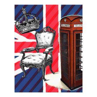 London telephone booth victorian crown union jack letterhead