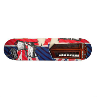London telephone booth victorian crown union jack skateboard deck
