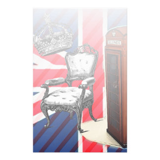 London telephone booth victorian crown union jack stationery