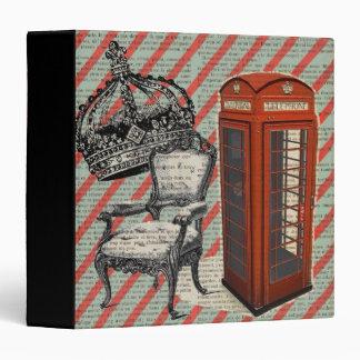 London telephone booth victorian  jubilee crown binder