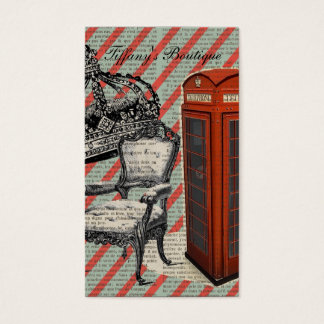 London telephone booth victorian  jubilee crown business card