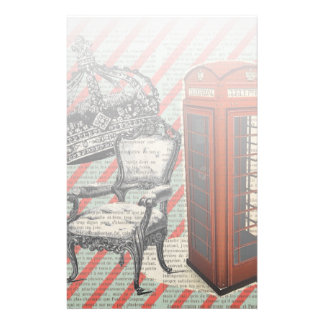London telephone booth victorian  jubilee crown stationery