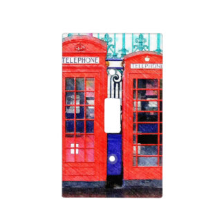 London Telephone Booths Light Switch Cover