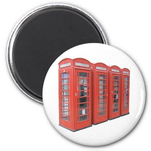 London telephone box 2 inch round magnet