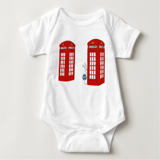 London Telephone Box and Bunny Baby Bodysuit