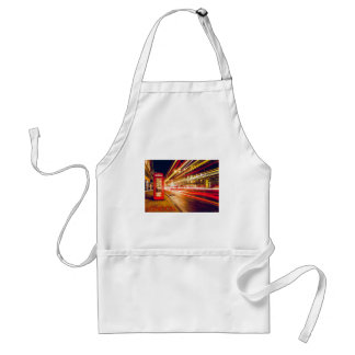London Telephone Box at Night with Street Light Adult Apron