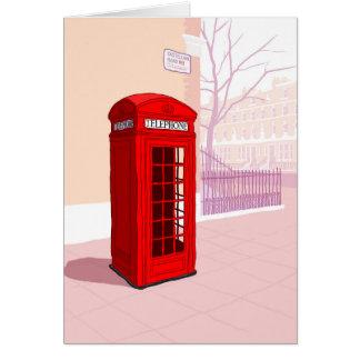 London Telephone box Card