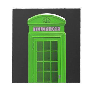 London telephone box England Scratch Pads