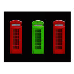 London telephone box England Postcard