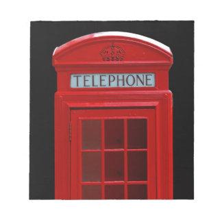 London Telephone box Note Pads