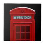 London Telephone box Small Square Tile