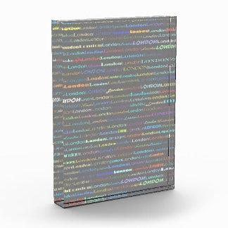 London Text Design I Block Award