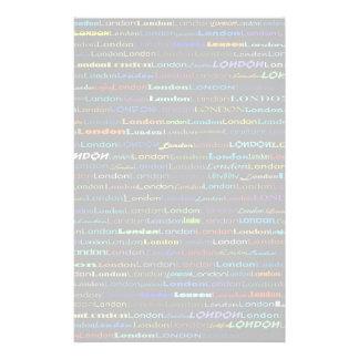 London Text Design I Stationery