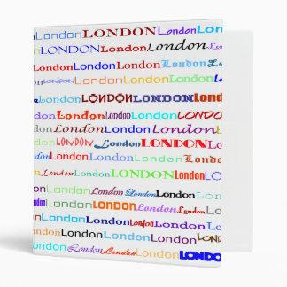 "London Text Design II 1"" Binder"