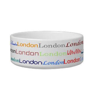 London Text Design II Cat Bowl