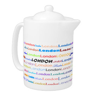 London Text Design II Teapot
