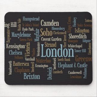 London Text Map Mouse Pad