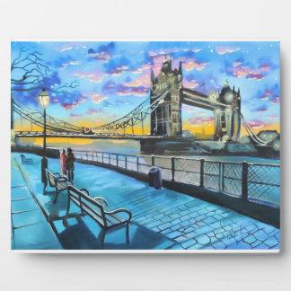 London Thames walk Plaque
