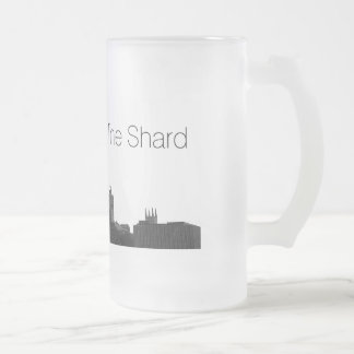 London The Shard Frosted Glass Beer Mug