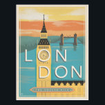 """London - The Square Mile Postcard<br><div class=""""desc"""">Anderson Design Group is an award-winning illustration and design firm in Nashville,  Tennessee. Founder Joel Anderson directs a team of talented artists to create original poster art that looks like classic vintage advertising prints from the 1920s to the 1960s.</div>"""