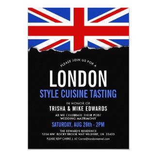 London Themed Cuisine | Party Flag Invite