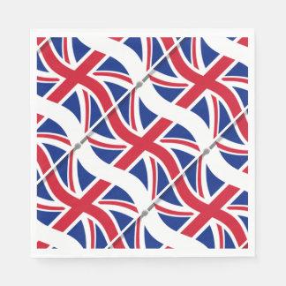 London Themed Party Union Jack Paper Napkins