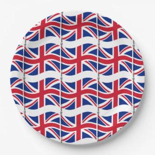 London Themed Party Union Jack Paper Plates  sc 1 st  Zazzle & London Themed Party Union Jack Paper Plates