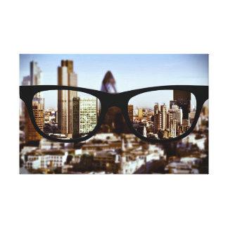 London through Sapio glasses Canvas Print