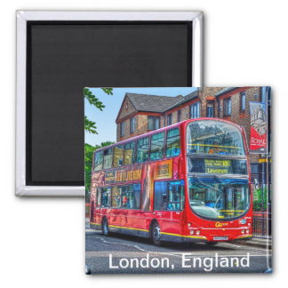 London to Lewisham Red Double-decker Bus UK Magnet