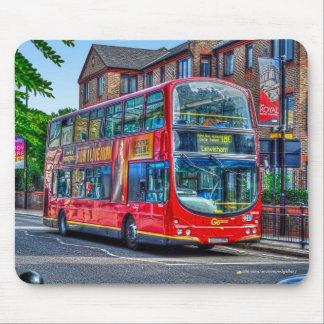 London to Lewisham Red Double-decker Bus UK Mouse Pad