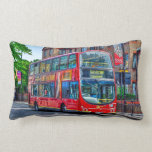 London to Lewisham Red Double-decker Bus UK Pillows