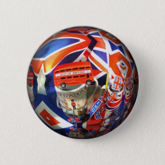 London Tourist Attractions Pinback Button