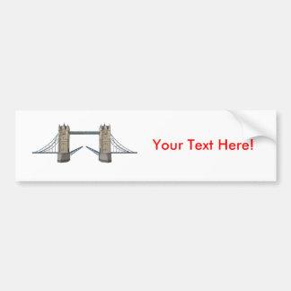 London Tower Bridge: 3D Model: Bumper Sticker