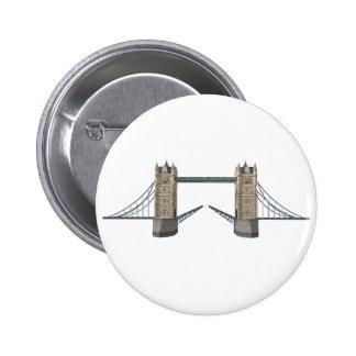 London Tower Bridge: 3D Model: 2 Inch Round Button