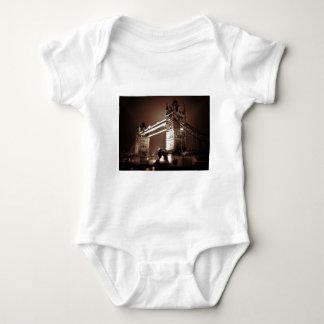 London Tower Bridge at Night Baby Bodysuit