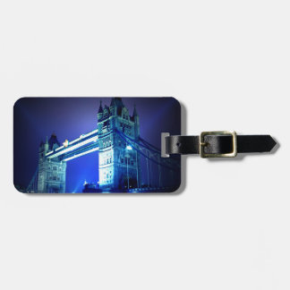 London Tower Bridge & Blue Night Bag Tag